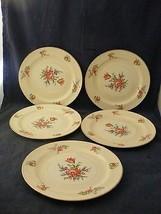 "5 Homer Lauglin Priscilla Eggshell Nautilus 8 1/8"" Salad Plates  - $24.95"