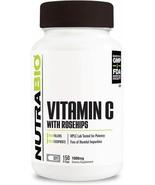 NUTRABIO - VITAMIN C 1000mg With Rose Hips 150caps - Healthy Bones, Teet... - $16.82
