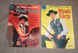 Wyatt Earp comic lot of 2 with Hugh O'Brian photo covers 1959-60 #6 &13 - £29.89 GBP