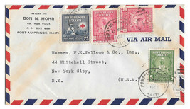Haiti Air Mail Cover 1953 Port au Prince to US Sc# 365 381 380 Don Mohr ... - $4.99