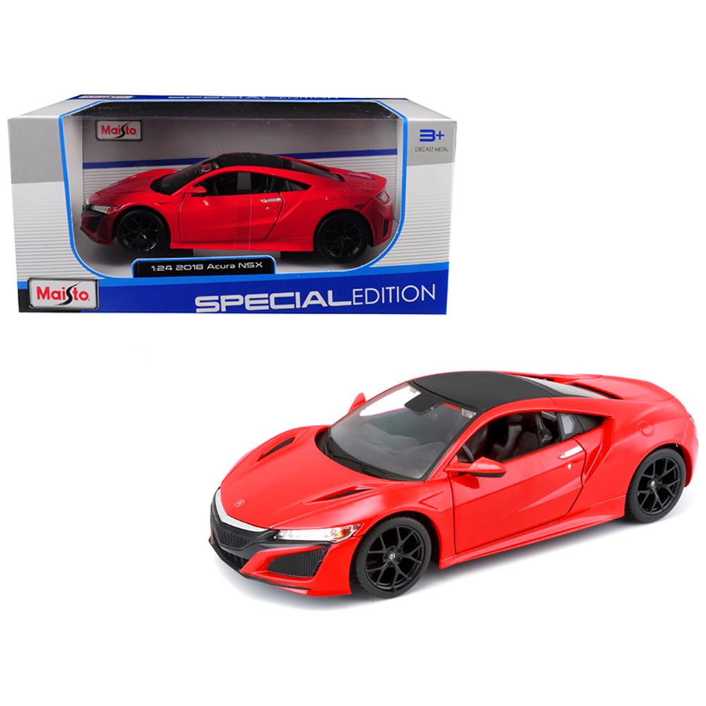 2018 Acura NSX Red with Black Top 1/24 Diecast Model Car by Maisto 31234R