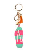 Flip Flops Rubber Summer Keychain - $3.99