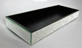 BELLA LUX Crystal Mirror Rhinestone Vanity Bathroom Dresser Perfume Larg... - $47.21