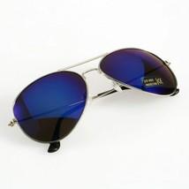 Occhiali da Sole da Uomo Aviator Specchio da Pilota Moda Classic Blue Argento - $6.61