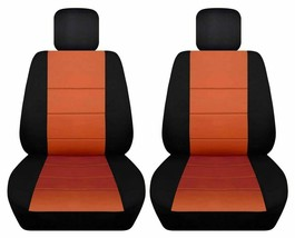 Front set car seat covers fits Chevy Spark  2013-2020   black and burnt orange - $67.89+