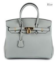 New 25cm Pebbled Leather Birkin Style Handbag Shoulder Bag Satchel Purse... - $149.95