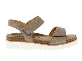 Sandalia plana MEPHISTO THELMA de nabuk cammello - Zapatos Mujer - $144.24