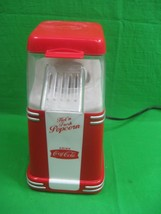 Nostalgia Coca-Cola Hot N Fresh Hot Air Popcorn Popper Mini RHP310Coke - $15.85