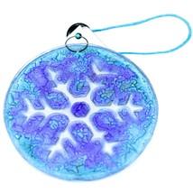 Fused Art Glass Winter Snowflake Ornament Handmade in Ecuador image 2