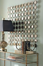 XL Anthropologie Replica Wall MIRROR HAND FORGED Circles METAL ART MODERN  - £289.00 GBP