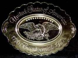 AVON BICENTENNIAL CRYSTAL COLLECTOR PLATE USA 1776-1976 - $8.90