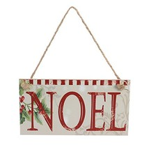 Tinksky Christmas Party NOEL Rectangle Hanging Wall Sign Decoration Wedd... - $8.78