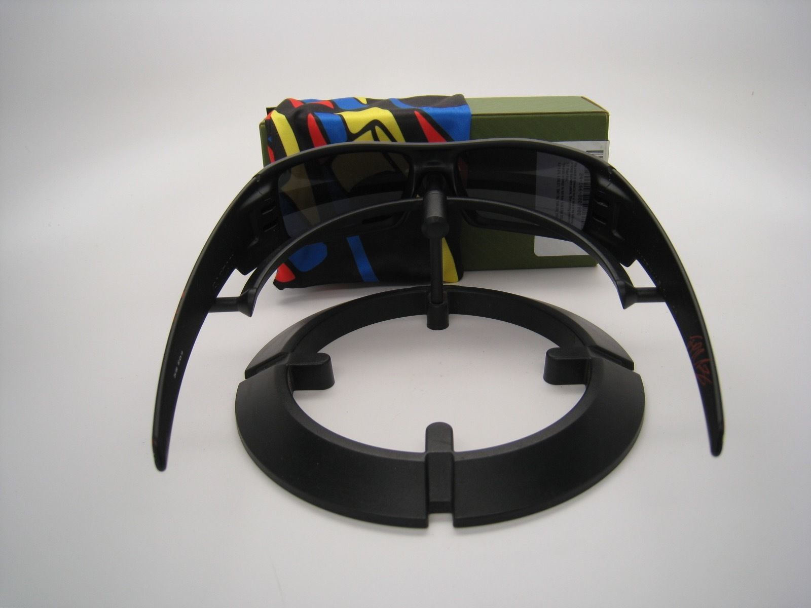 Rare!! New Oakley Limited Montoya 09 Gascan Matte Black w/Black Iridium 24-166