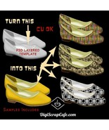 Sexy Flat Shoes Transparent PNGS PSD Template Commercial Use Resale - $3.59