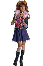 Monster High Girls Clawdeen Wolf Costume Size Large (12-14) - £17.96 GBP