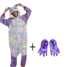 More Cheap Star Pattern Panda Onesie With Slipper Kigurumi Costume Animal Adult  - $37.54