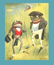 Mr Frog Sets Out to Get His Gal Original 1901 Mother Goose Book by Peter Newell  - $32.90
