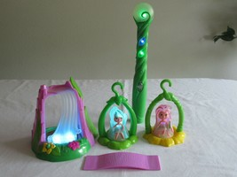 WowWee Lite Sprites Waterfall Wand Fairies Fairy Brooke Prisma Play Set Lot - $19.49