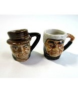 2 Vintage Ceramic  Mini Toby Style Mugs - Made in Japan - $11.99
