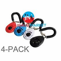 Ruconla- 4 Pack Dog Training Clicker with Wrist Strap, Pet Training Clic... - $15.08 CAD