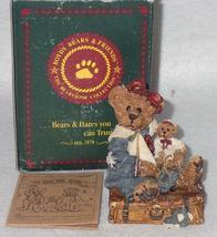 Boyd Bearstone Resin Bears 1993 Bailey Bear With Suitcase Figurine #2000 14E NEW image 3