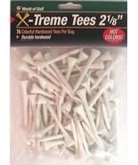Golf Tees 2 3/4-Inch Extreme Tee Durable Hardwood Tees Pack of 65 - $7.97