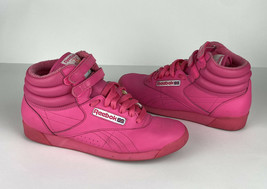 Reebok Classic Freestyle High Top 30th Anniversary Hot Pink Size 7 - $33.10