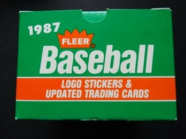 Empty 1987 Fleer Update Baseball Box - $7.99
