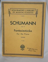 Schumann Op 12 Fantasiestucke Piano Sheet Music Schirmers Library Classical - $9.74