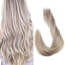 Full Shine Hair Extensions Tape In Real Hair 18 Inch Two Tone Highlight 18 And 6