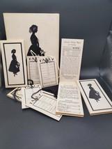 IOB Intercollegiate Press Vintage UNUSED SET Silhouette design Contract ... - $32.00
