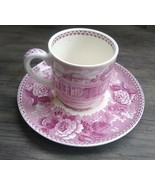 Wedgwood Mulberry Transferware Monticello Demitasse Cup & Saucer - $16.99