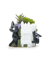 Black Cat White Fence Resin Cacti Micro Landscape Flowers Succulent Plan... - $13.67