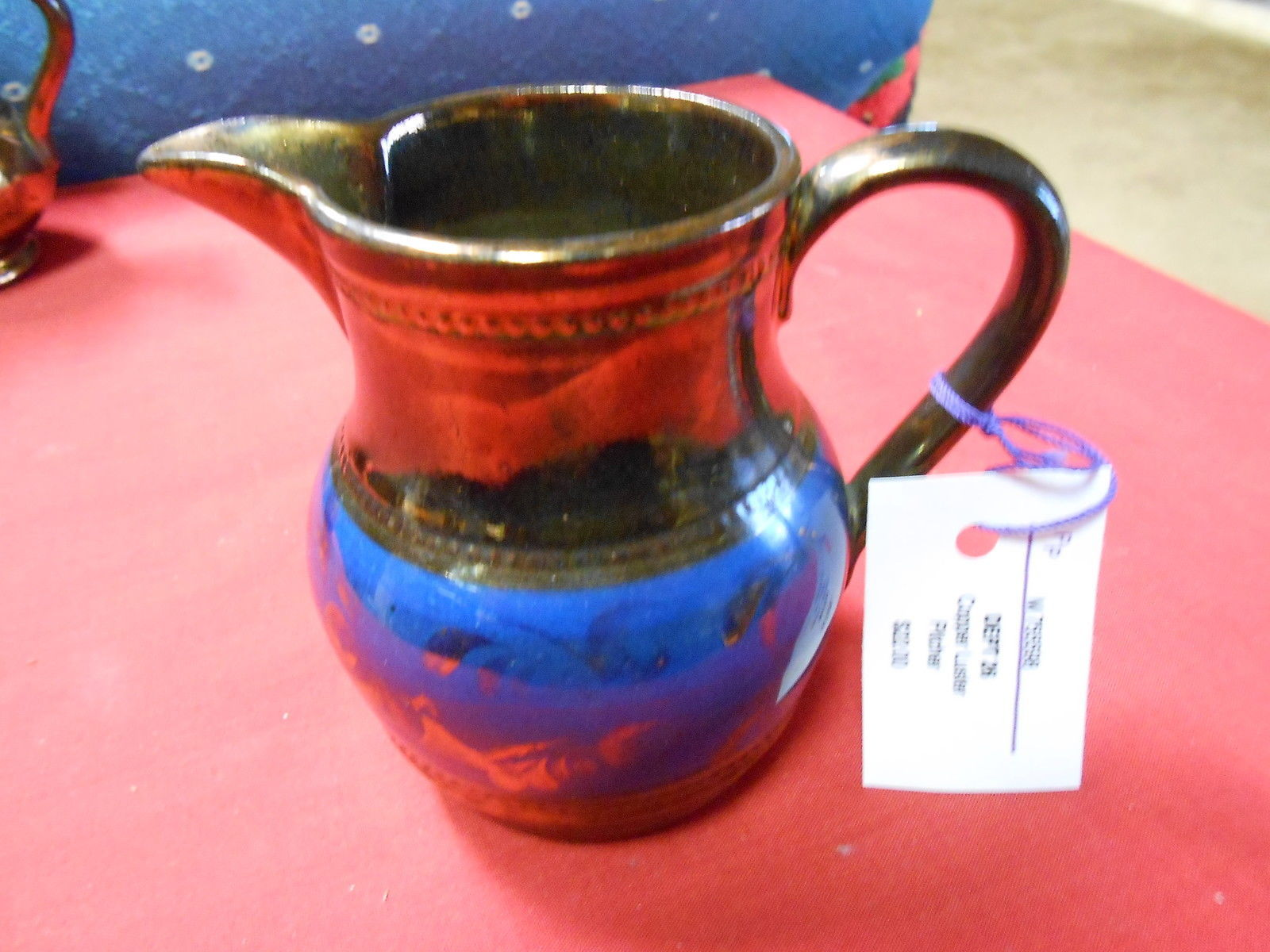 "Primary image for Beautiful Vintage Porcelain Copper Lustre PITCHER...3.75"" HEIGHT............SALE"
