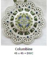 Columbine Laser Lace Ornament cross stitch chart Keslyn's - $8.00