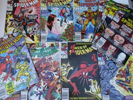 Marvel Web of Spiderman Vintage Comic Book Lot 41 42 51 52 53 54 55 58 6... - $66.01