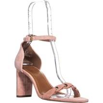 Coach Heel Sandal Ankle Strap Sandals, Peony, 9 US - $90.23
