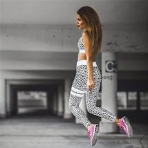 Women's 2 Piece Yoga Suit Workout Sports Bra and Leggings Athletic Fitness Track image 2