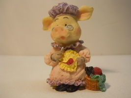 Pig Dressed Clothed with Glasses Decor Figurine Statue Figure P10077 - $15.99