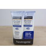 Neutrogena Ultra Sheer Dry-Touch Sunscreen - SPF 45 - 3 oz / 2 Pack Heli... - $12.86