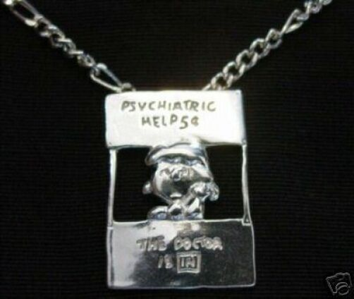 LOOK Lucy Charlie Brown charm Peanuts Snoopy Sterling silver Doctor psychiatric
