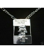 LOOK Lucy Charlie Brown charm Peanuts Snoopy Sterling silver Doctor psyc... - $21.65