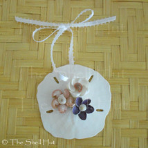 Sand Dollar Christmas Ornament Shell Flower Seashell Coastal Decor Beach... - $10.99