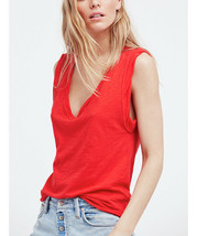 Free People Womens Cleo OB713338 Tee Sleeveless Soft Red Size XS - $15.05