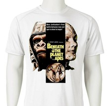 Beneath Planet Apes Dri Fit graphic T-shirt retro 80s sci fi movie SPF sun shirt image 2