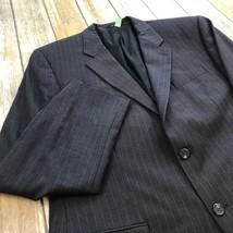 Ralph Lauren Men's Wool Cooper Professional Gray Pinstriped Blazer Size ... - $69.29