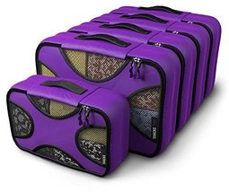 Shacke Pak - 5 Set Medium/Small Packing Cubes - Travel Organizers Orchid... - $683,26 MXN