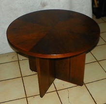 Round Walnut End Table / Side Table - $349.00