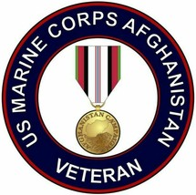 US Marine Corps USMC Afghanistan Veteran Sticker - $9.89