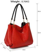 Snake- Effect Shoulder Bag   ladies bag new bag designer bag bags for girl - $42.00